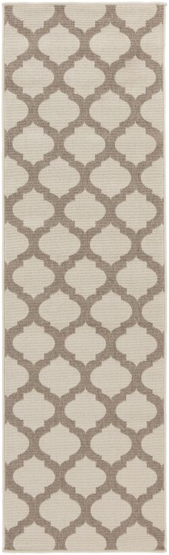 Surya ALF-9586 Alfresco Power Loomed Polypropylene Rug Brown 2 x 7 1/2