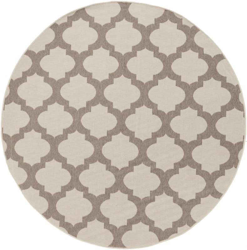 Surya ALF-9586 Alfresco Power Loomed Polypropylene Rug Brown 5 x 5