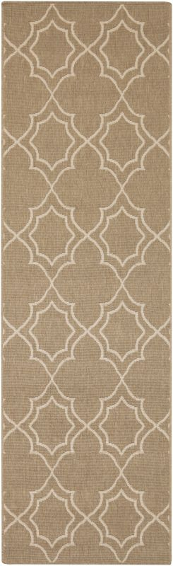 Surya ALF-9587 Alfresco Power Loomed Polypropylene Rug Brown 2 x 4 1/2