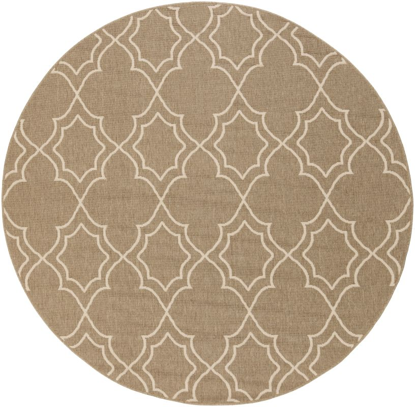 Surya ALF-9587 Alfresco Power Loomed Polypropylene Rug Brown 7 x 7