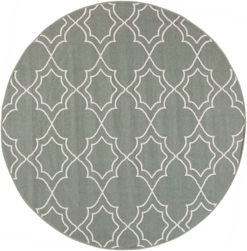 Surya ALF-9589 Alfresco Power Loomed Polypropylene Rug Green 5 x 5 Sale $83.40 ITEM: bci2656455 ID#:ALF9589-53RD UPC: 764262736762 :