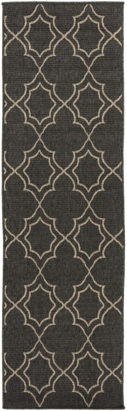 Surya ALF-9590 Alfresco Power Loomed Polypropylene Rug Black 3 1/2 x 5