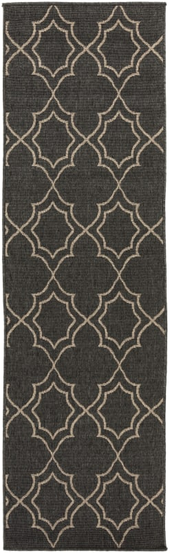 Surya ALF-9590 Alfresco Power Loomed Polypropylene Rug Black 6 x 9