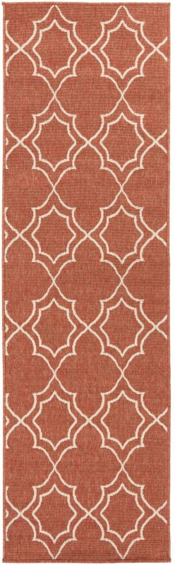 Surya ALF-9591 Alfresco Power Loomed Polypropylene Rug Red 2 x 4 1/2