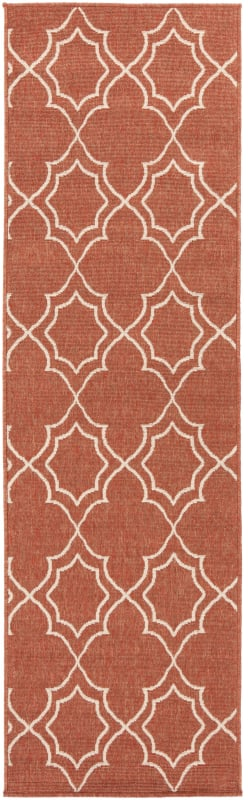 Surya ALF-9591 Alfresco Power Loomed Polypropylene Rug Red 2 x 7 1/2