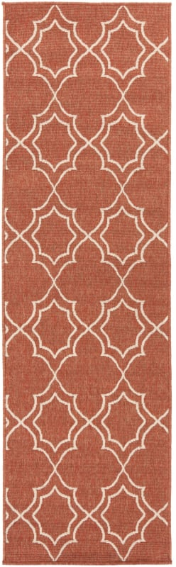 Surya ALF-9591 Alfresco Power Loomed Polypropylene Rug Red 3 1/2 x 5
