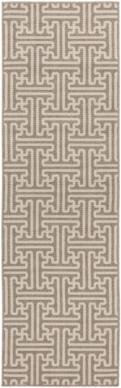 Surya ALF-9599 Alfresco Power Loomed Polypropylene Rug Brown 2 x 4 1/2