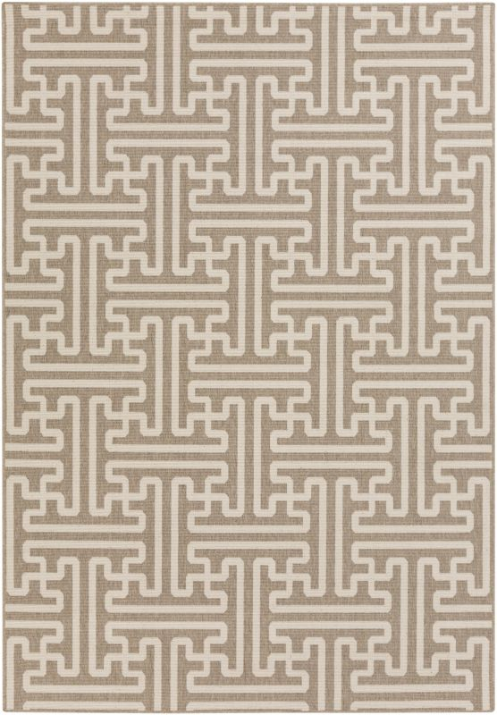 Surya ALF-9599 Alfresco Power Loomed Polypropylene Rug Brown 5 x 7 1/2
