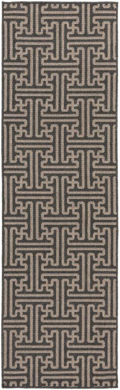 Surya ALF-9604 Alfresco Power Loomed Polypropylene Rug Black 2 x 4 1/2