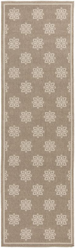 Surya ALF-9607 Alfresco Power Loomed Polypropylene Rug Brown 3 1/2 x 5