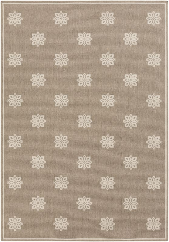 Surya ALF-9607 Alfresco Power Loomed Polypropylene Rug Brown 5 x 7 1/2
