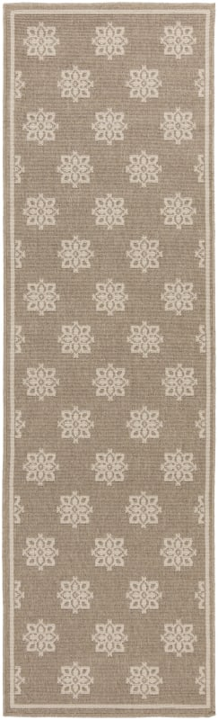 Surya ALF-9607 Alfresco Power Loomed Polypropylene Rug Brown 6 x 9