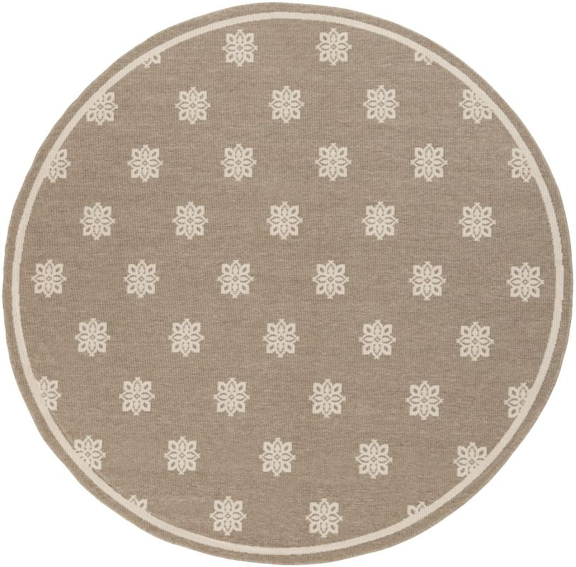 Surya ALF-9607 Alfresco Power Loomed Polypropylene Rug Brown 8 1/2 x 8