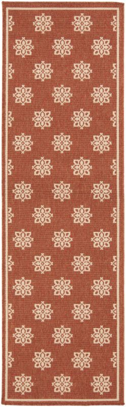 Surya ALF-9611 Alfresco Power Loomed Polypropylene Rug Red 2 x 4 1/2