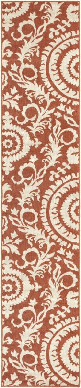 Surya ALF-9613 Alfresco Power Loomed Polypropylene Rug Red 2 x 11 1/2