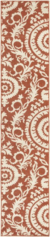 Surya ALF-9613 Alfresco Power Loomed Polypropylene Rug Red 8 1/2 x 12