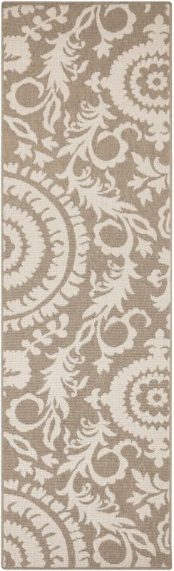 Surya ALF-9616 Alfresco Power Loomed Polypropylene Rug Brown 2 x 7 1/2