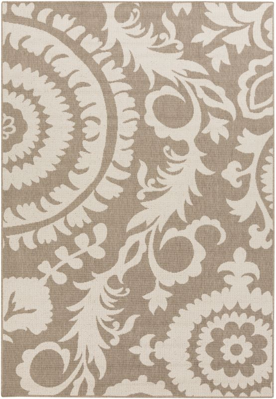 Surya ALF-9616 Alfresco Power Loomed Polypropylene Rug Brown 5 x 7 1/2