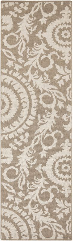 Surya ALF-9616 Alfresco Power Loomed Polypropylene Rug Brown 8 1/2 x