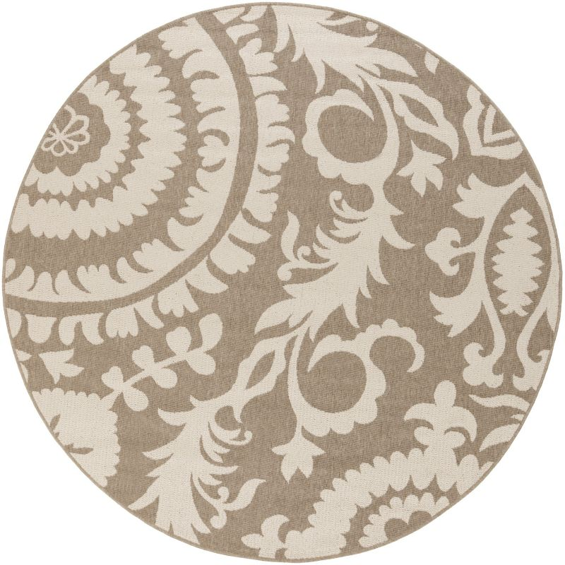 Surya ALF-9616 Alfresco Power Loomed Polypropylene Rug Brown 8 1/2 x 8