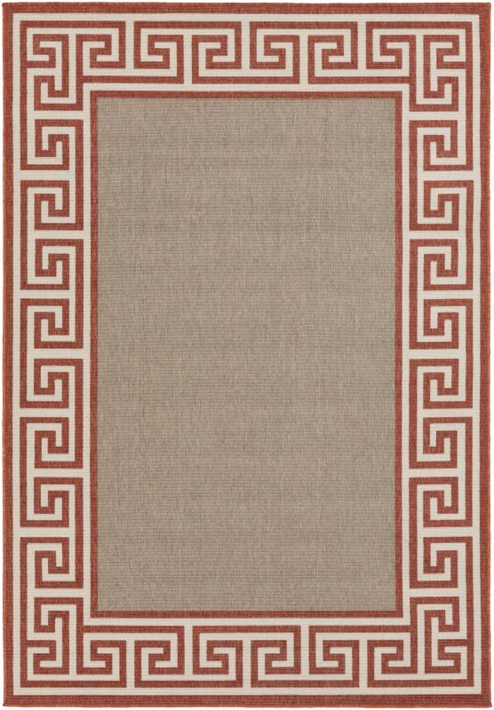 Surya ALF-9628 Alfresco Power Loomed Polypropylene Rug Orange 5 x 7