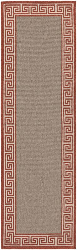 Surya ALF-9628 Alfresco Power Loomed Polypropylene Rug Orange 7 1/2 x