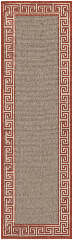 Surya ALF-9628 Alfresco Power Loomed Polypropylene Rug Orange 8 1/2 x