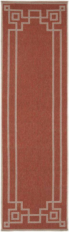 Surya ALF-9631 Alfresco Power Loomed Polypropylene Rug Red 8 1/2 x 12