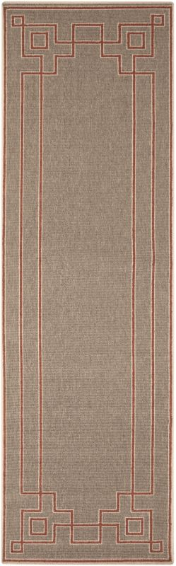 Surya ALF-9633 Alfresco Power Loomed Polypropylene Rug Red 2 x 4 1/2