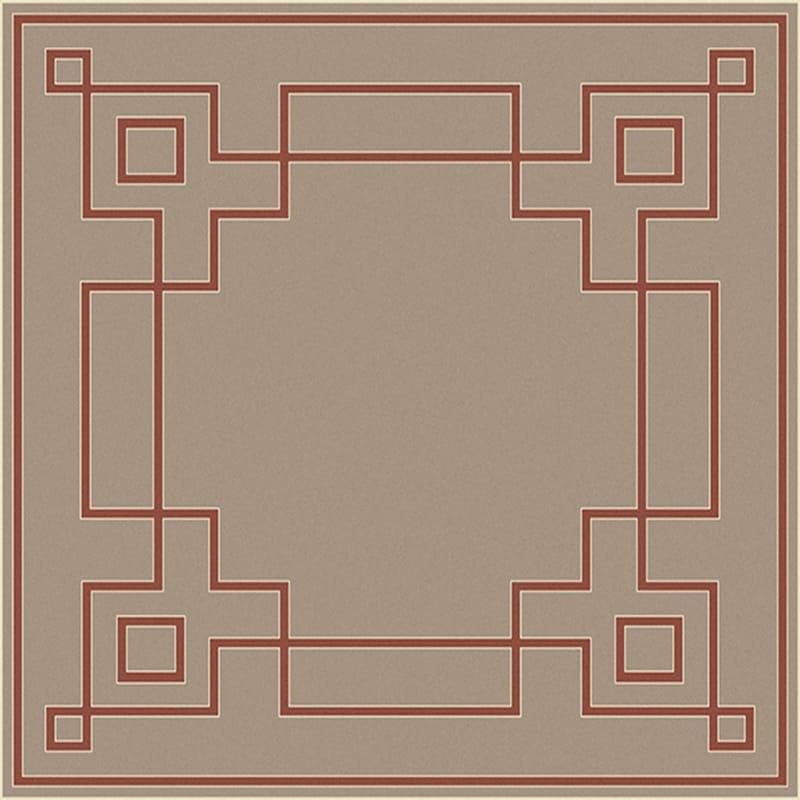 Surya ALF-9633 Alfresco Power Loomed Polypropylene Rug Red 7 x 7 Home