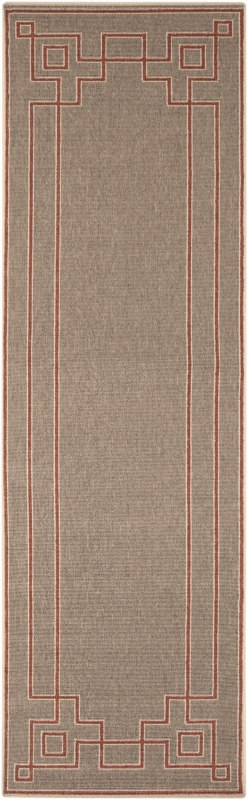 Surya ALF-9633 Alfresco Power Loomed Polypropylene Rug Red 8 1/2 x 12