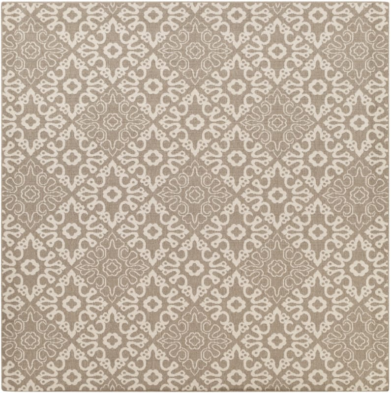 Surya ALF-9635 Alfresco Power Loomed Polypropylene Rug Brown 8 1/2 x 8