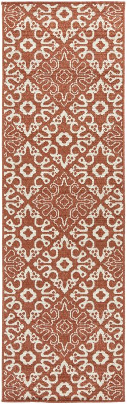 Surya ALF-9636 Alfresco Power Loomed Polypropylene Rug Red 2 x 7 1/2