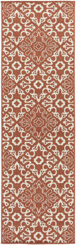 Surya ALF-9636 Alfresco Power Loomed Polypropylene Rug Red 3 1/2 x 5