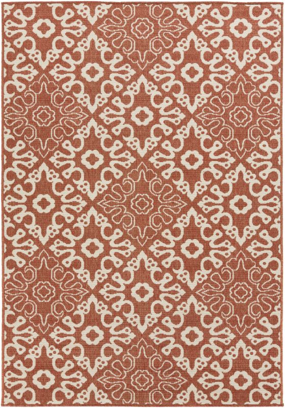 Surya ALF-9636 Alfresco Power Loomed Polypropylene Rug Red 5 x 7 1/2