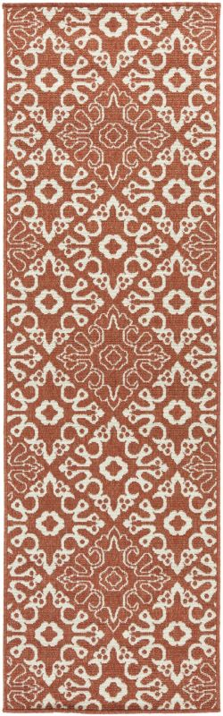 Surya ALF-9636 Alfresco Power Loomed Polypropylene Rug Red 7 1/2 x 10
