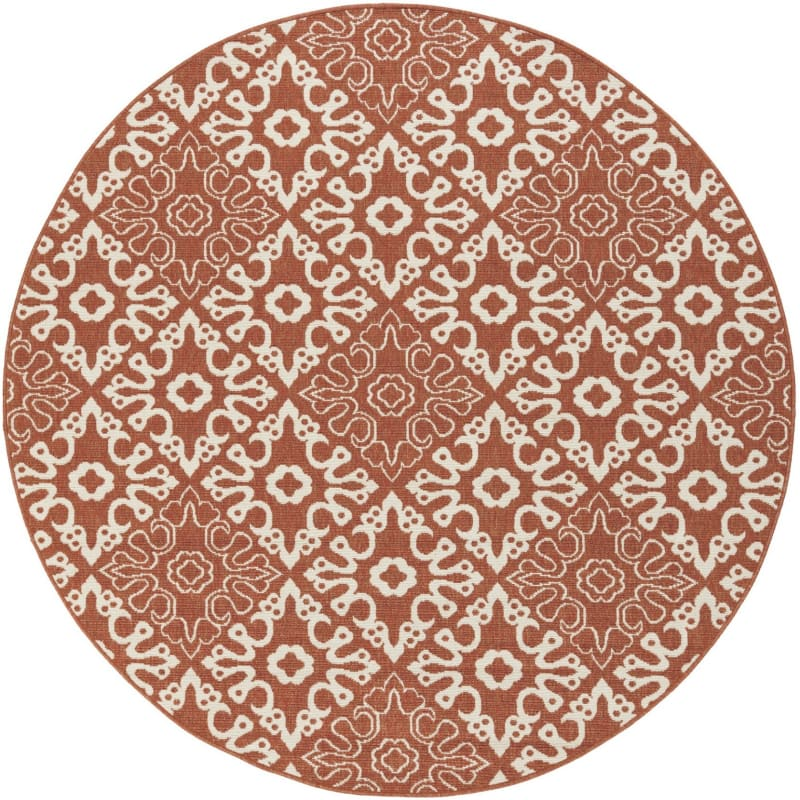 Surya ALF-9636 Alfresco Power Loomed Polypropylene Rug Red 8 1/2 x 8
