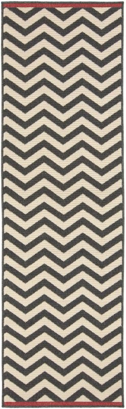 Surya ALF-9646 Alfresco Power Loomed Polypropylene Rug Black 2 x 7 1/2