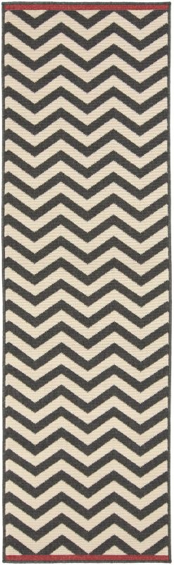 Surya ALF-9646 Alfresco Power Loomed Polypropylene Rug Black 3 1/2 x 5