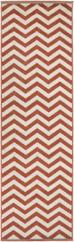 Surya ALF-9647 Alfresco Power Loomed Polypropylene Rug Red 2 x 11 1/2