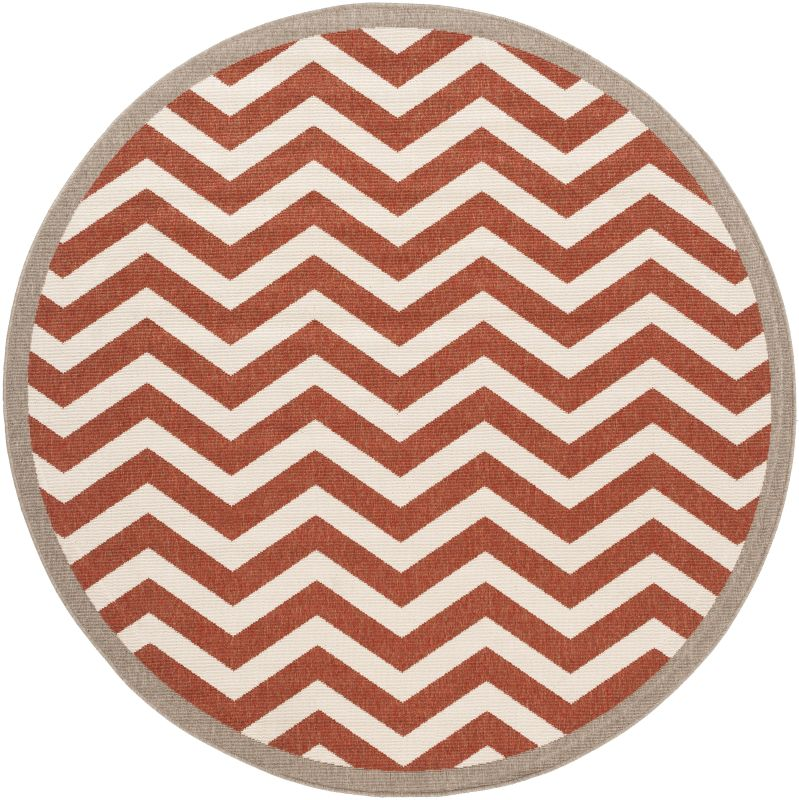 Surya ALF-9647 Alfresco Power Loomed Polypropylene Rug Red 7 x 7 Round