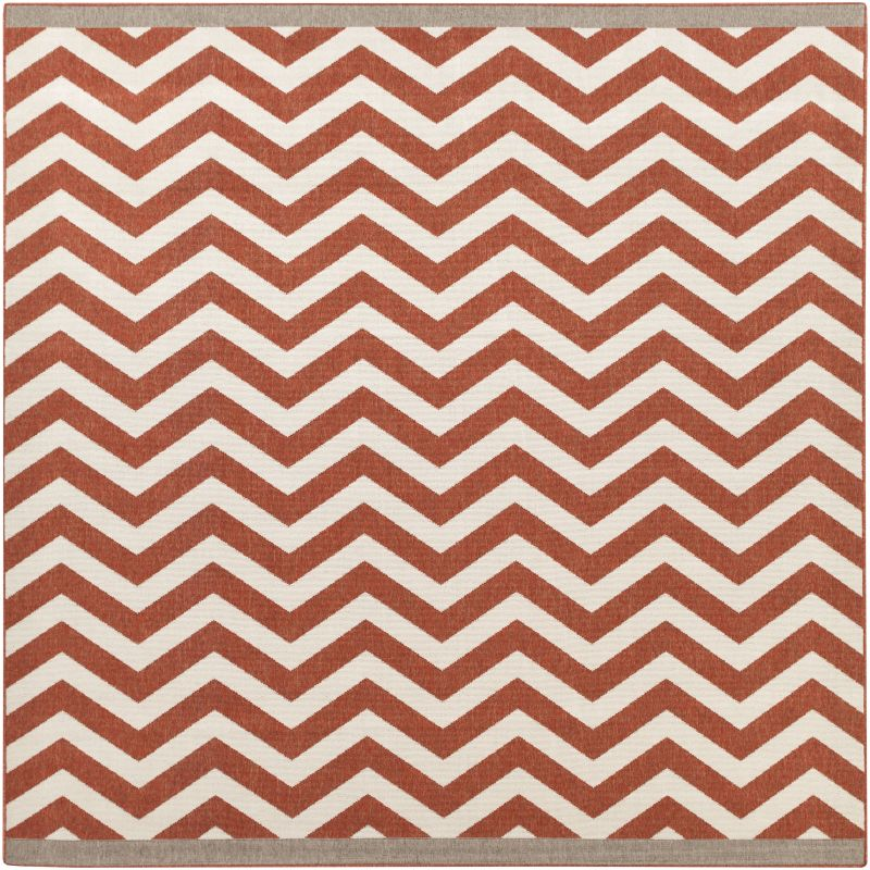 Surya ALF-9647 Alfresco Power Loomed Polypropylene Rug Red 8 1/2 x 8