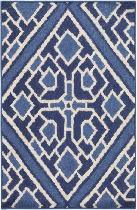 Surya AMD-1005 Alameda Hand Woven Wool Rug Blue 3 x 5 Home Decor Rugs Sale $206.40 ITEM: bci2657384 ID#:AMD1005-3353 UPC: 764262871357 :