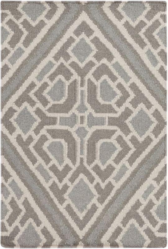 Surya AMD-1008 Alameda Hand Woven Wool Rug Gray 3 x 5 Home Decor Rugs