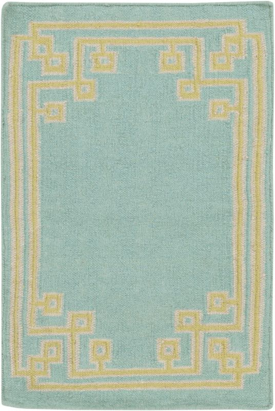 Surya AMD-1010 Alameda Hand Woven Wool Rug Blue 3 x 5 Home Decor Rugs