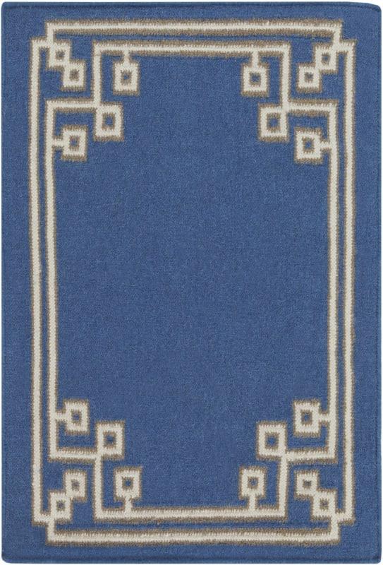 Surya AMD-1011 Alameda Hand Woven Wool Rug Blue 3 x 5 Home Decor Rugs