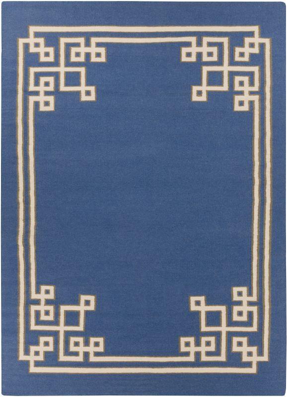 Surya AMD-1011 Alameda Hand Woven Wool Rug Blue 8 x 11 Home Decor Rugs