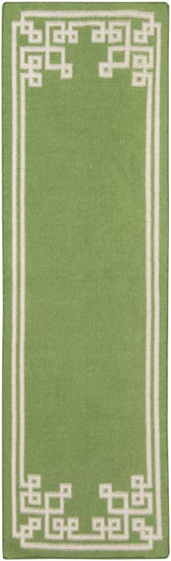 Surya AMD-1013 Alameda Hand Woven Wool Rug Green 2 1/2 x 8 Home Decor