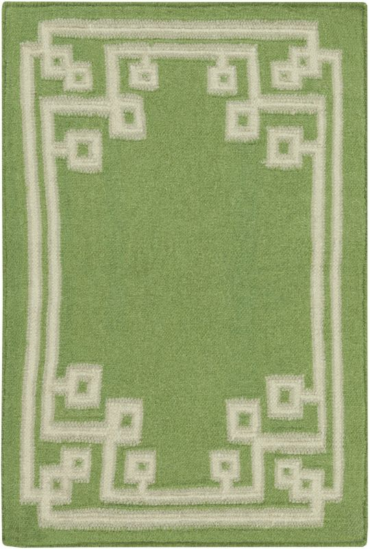 Surya AMD-1013 Alameda Hand Woven Wool Rug Green 3 x 5 Home Decor Rugs