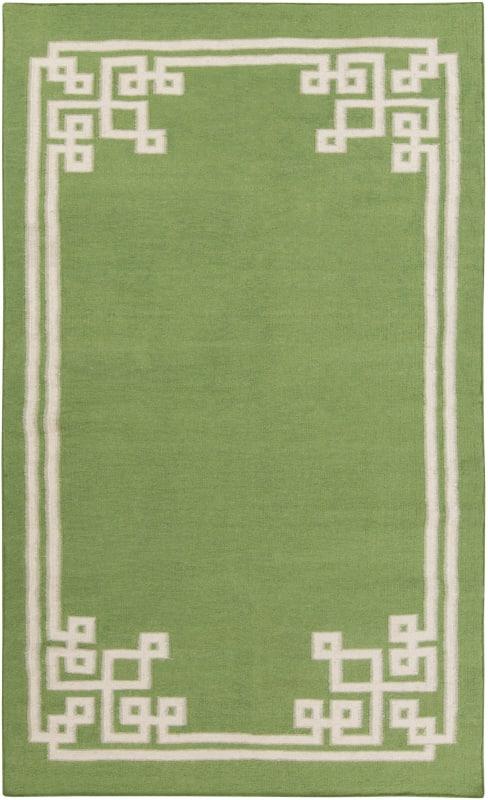 Surya AMD-1013 Alameda Hand Woven Wool Rug Green 5 x 8 Home Decor Rugs